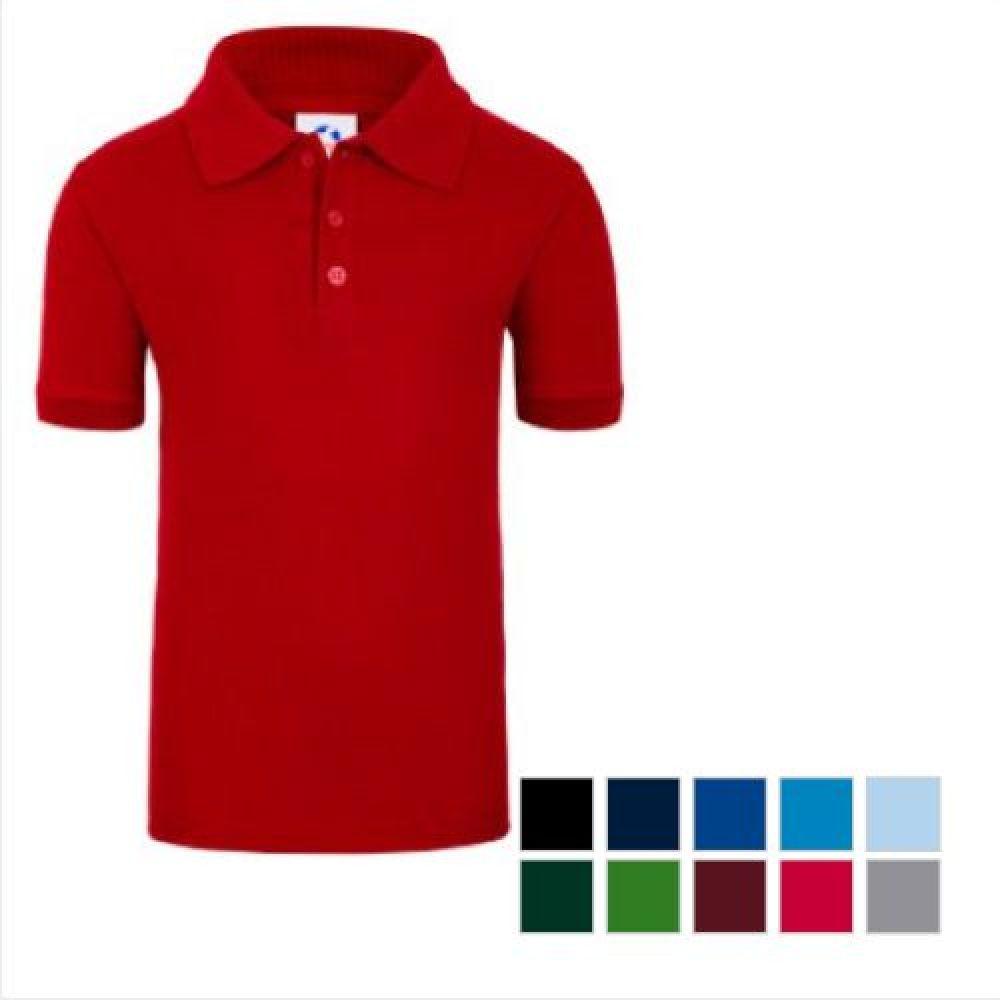 Camisa Cardado estilo Polo de Niño 50% algodón 4-6-8-10 COLOR ... c4459e31761f4