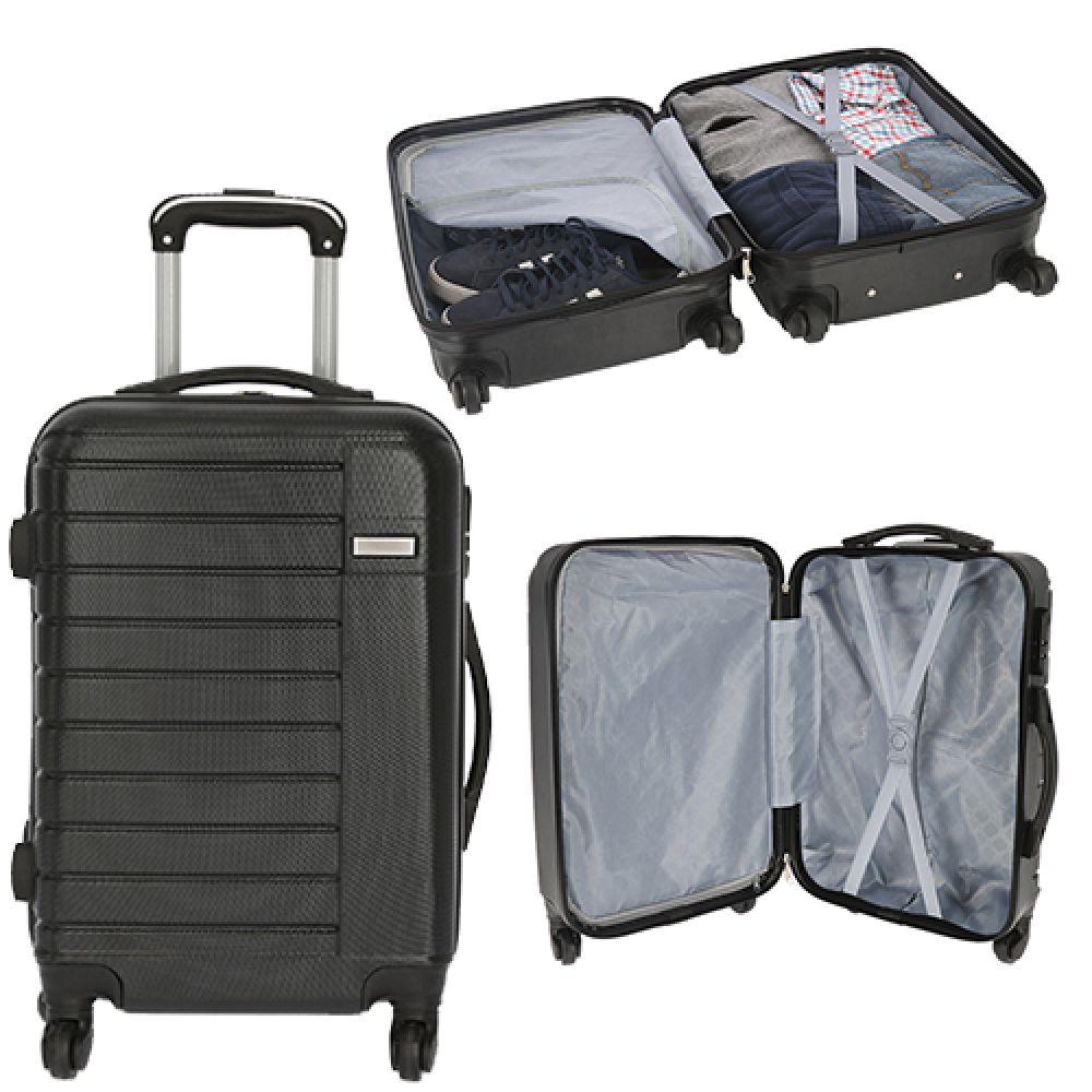 e165b8b66 Maleta de plástico para viaje, con ruedas giratorias, asa metálica  retráctil y candado de