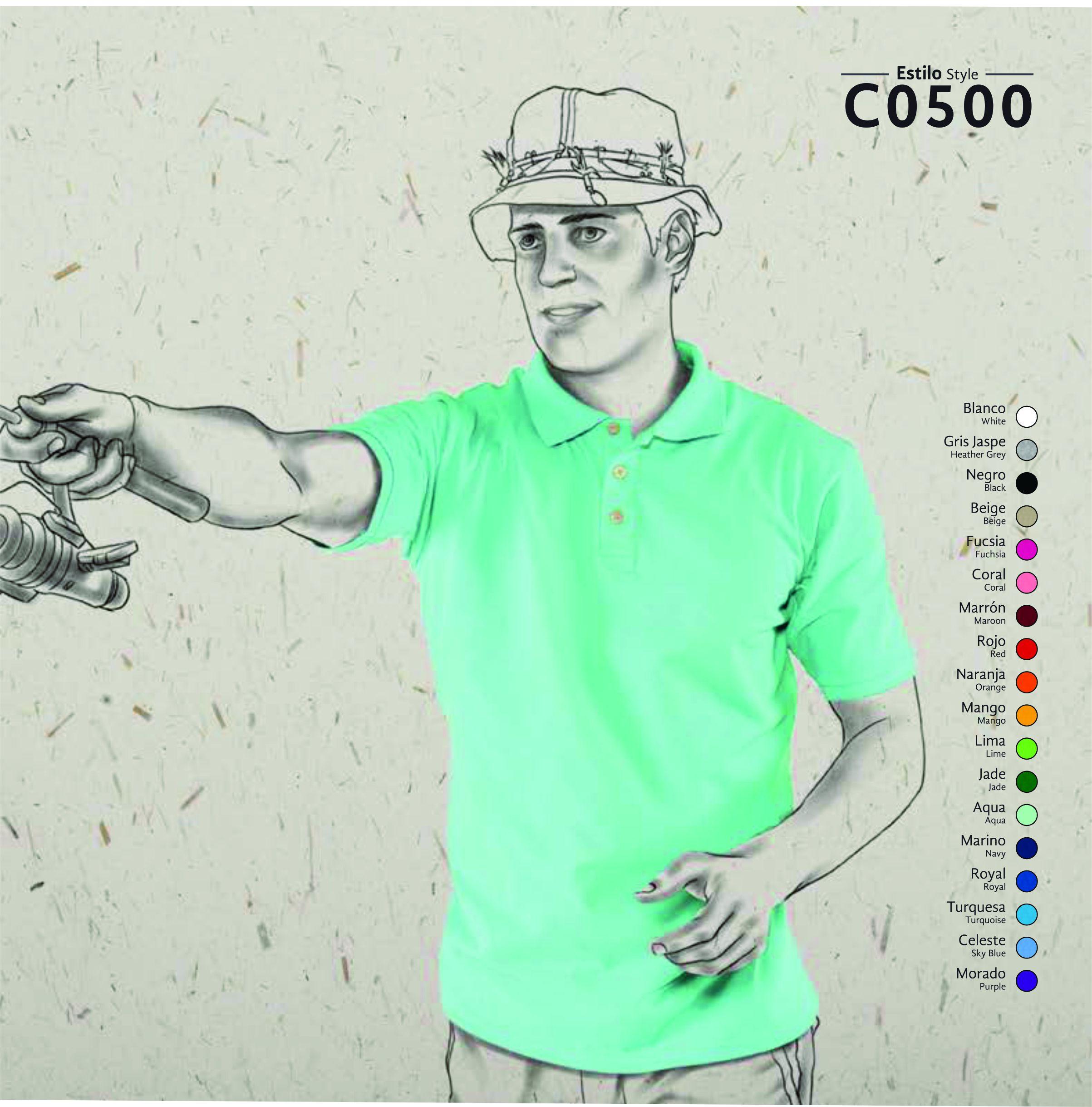 6d01e96e8b07d PLAYERA TIPO POLO PIQUE CABALLERO COLORES EEG - Distribuciones Joven ...