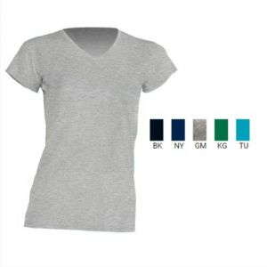 REGULAR LADY V - NECK CUELLO VMANGA CORTA 1000% ALGODÓN NEGRO, NEVY, GREY MELANGE,KELLY GREEN, TURQUESA S-M-L-XL