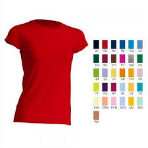 CAMISETA REGULAR LADY CONFORT CUELLO REDONDO MANGA CORTA  NUEVOS COLORES  100% ALGODÓN  AZUL, BOTTLE GREEN, BURGUNDY, CHOCOLATE, KELLY GREEN , ROSA, PURPURA, RASPBERRY, SKY BLUE, MINT GREEN S-M-L-XL