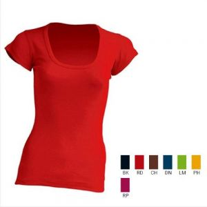 URBAN LINE  GRETA   DAMA  CUELLO REDONDO  100% ALGODÓN 2XL NEGRO , DENIM , CHOCOLATE , RASPBERRY , ROJO, LIMON 2XL